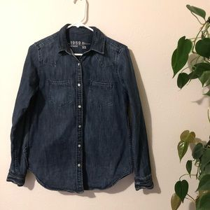 The Gap 1969 chambray western button up
